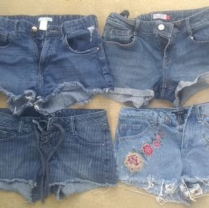 Lot of 4 denim shorts small